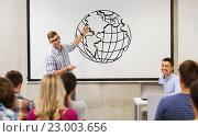 Купить «group of students and teacher at white board», фото № 23003656, снято 7 сентября 2014 г. (c) Syda Productions / Фотобанк Лори