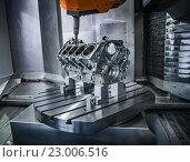 Купить «Metalworking CNC milling machine.», фото № 23006516, снято 25 мая 2016 г. (c) Андрей Армягов / Фотобанк Лори