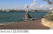 Купить «Памятник затопленным кораблям в Севастополе Крым», видеоролик № 23010080, снято 21 апреля 2016 г. (c) Яна Королёва / Фотобанк Лори
