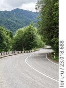 Извилистая дорога в горах. Адыгея. Стоковое фото, фотограф Сергей Калинкин / Фотобанк Лори
