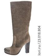 Купить «Женский сапог на высоком каблуке с украшением на носке», фото № 23018804, снято 18 августа 2010 г. (c) Olesya Tseytlin / Фотобанк Лори