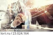 Купить «He is building his business», фото № 23024164, снято 23 января 2014 г. (c) Sergey Nivens / Фотобанк Лори