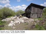 Старый сарай. Стоковое фото, фотограф Сергей Варламов / Фотобанк Лори