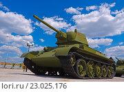 Купить «Советский танк Т-34-76», фото № 23025176, снято 21 мая 2016 г. (c) Megapixx / Фотобанк Лори