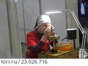 """Купить «Финал Национального чемпионата """"Молодые профессионалы"""" (World Skills Russia). Подмосковье 2016. Огранка ювелирных изделий», эксклюзивное фото № 23026716, снято 26 мая 2016 г. (c) Инна Козырина (Трепоухова) / Фотобанк Лори"""
