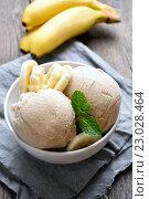 Купить «Мороженое с бананами», фото № 23028464, снято 16 февраля 2016 г. (c) Татьяна Волгутова / Фотобанк Лори