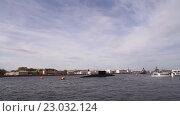 Купить «Подводные лодки и корабли на Неве», видеоролик № 23032124, снято 4 июня 2015 г. (c) Валентин Беспалов / Фотобанк Лори