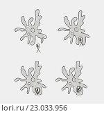 Купить «Амеба - одноклеточный организм. Питание», иллюстрация № 23033956 (c) SvetlanaWSE / Фотобанк Лори