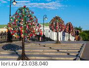 Москва, Третьяковский мост (2016 год). Редакционное фото, фотограф Володина Ольга / Фотобанк Лори