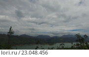 Купить «view to lake or river from land hills», видеоролик № 23048456, снято 16 февраля 2016 г. (c) Syda Productions / Фотобанк Лори
