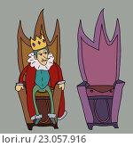 Король на троне, рисунок. Стоковая иллюстрация, иллюстратор David Murk / Фотобанк Лори