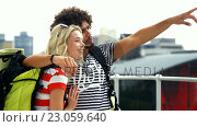 Купить «Couple of two hipsters visiting », видеоролик № 23059640, снято 19 августа 2019 г. (c) Wavebreak Media / Фотобанк Лори