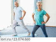 Seniors doing sport exercises. Стоковое фото, агентство Wavebreak Media / Фотобанк Лори