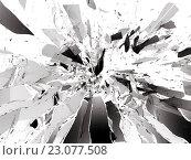 Купить «Разбивающееся стекло», фото № 23077508, снято 13 декабря 2018 г. (c) Арсений Герасименко / Фотобанк Лори
