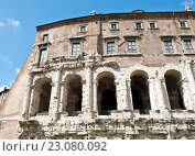 Купить «Фрагмент Театра Марцелла (Teatro di Marcello). Рим. Италия», фото № 23080092, снято 23 апреля 2016 г. (c) Екатерина Овсянникова / Фотобанк Лори