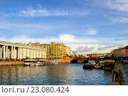 Купить «Аничков мост через реку Фонтанку в Санкт-Петербурге, Россия», фото № 23080424, снято 20 октября 2012 г. (c) Зезелина Марина / Фотобанк Лори