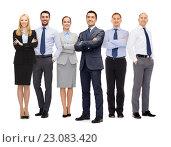 Купить «group of happy business people», фото № 23083420, снято 15 марта 2014 г. (c) Syda Productions / Фотобанк Лори