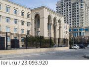 Купить «Баку, здание, где располагается Бакинский филиал Московского медицинского университета имени И.М.Сеченова», фото № 23093920, снято 17 февраля 2016 г. (c) Татьяна Юни / Фотобанк Лори