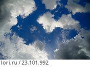 Купить «Облака на синем небе», фото № 23101992, снято 11 июня 2016 г. (c) Сергей Эшметов / Фотобанк Лори