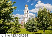 Самара. Вид на колокольню Самарского Иверского женского монастыря в летний солнечный день, фото № 23109584, снято 12 июня 2016 г. (c) FotograFF / Фотобанк Лори