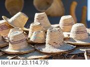 Купить «Традиционные берберские шляпы», фото № 23114776, снято 31 октября 2013 г. (c) Александр Трофимов / Фотобанк Лори