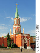 Купить «Никольская башня Московского Кремля», фото № 23115588, снято 24 сентября 2015 г. (c) Денис Ларкин / Фотобанк Лори