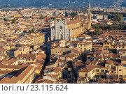 Купить «Панорама Флоренции», фото № 23115624, снято 26 октября 2014 г. (c) Андрей Андронов / Фотобанк Лори