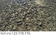 Купить «Дорожное покрытие с камнями», видеоролик № 23118116, снято 10 апреля 2015 г. (c) Потийко Сергей / Фотобанк Лори