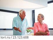 Купить «Senior couple having an argument», фото № 23123608, снято 22 марта 2016 г. (c) Wavebreak Media / Фотобанк Лори