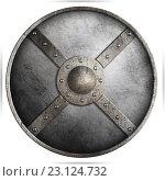 Купить «Средневековый металлический щит», иллюстрация № 23124732 (c) Андрей Кузьмин / Фотобанк Лори