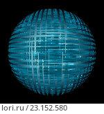Абстрактное изображение голубой сферы. Стоковая иллюстрация, иллюстратор Костенко Юлия / Фотобанк Лори