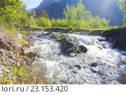 Купить «Горная река. Алтай.», фото № 23153420, снято 3 июня 2016 г. (c) Алексей Ширманов / Фотобанк Лори