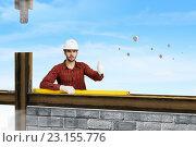 Купить «Young engineer man . Mixed media», фото № 23155776, снято 5 марта 2011 г. (c) Sergey Nivens / Фотобанк Лори