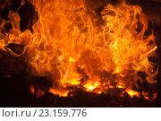 Огонь в печи. Стоковое фото, фотограф Синицын Юрий Альбертович / Фотобанк Лори