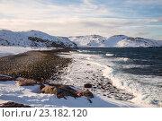 Купить «Побережье Северного Ледовитого океана, Баренцево море», фото № 23182120, снято 11 марта 2016 г. (c) Наталья Волкова / Фотобанк Лори