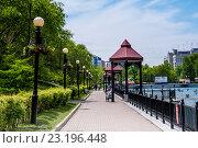 Купить «Городские пруды Хабаровска», эксклюзивное фото № 23196448, снято 31 мая 2016 г. (c) Катерина Белякина / Фотобанк Лори