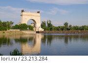 Купить «13-й шлюз. Волго-Донской канал», эксклюзивное фото № 23213284, снято 25 июня 2016 г. (c) Volgograd.travel / Фотобанк Лори