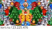 Новогодняя елка. Стоковая иллюстрация, иллюстратор Мария Румянцева / Фотобанк Лори