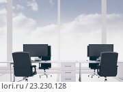 Купить «Office with blue sky», иллюстрация № 23230128 (c) Wavebreak Media / Фотобанк Лори