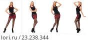 Купить «Composite photo of woman in various poses», фото № 23238344, снято 26 января 2014 г. (c) Elnur / Фотобанк Лори