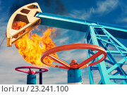 Купить «Нефтяное месторождение», фото № 23241100, снято 4 июня 2015 г. (c) Икан Леонид / Фотобанк Лори