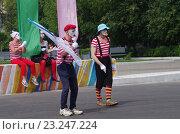 Купить «Выступления мимов в Парке Культуры и отдыха города Жуковский 25 июня 2016 года», фото № 23247224, снято 25 июня 2016 г. (c) Natalya Sidorova / Фотобанк Лори