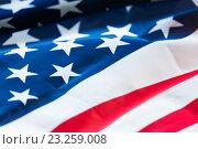 Купить «close up of american flag», фото № 23259008, снято 6 мая 2016 г. (c) Syda Productions / Фотобанк Лори