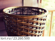 Купить «close up of wicker basket», фото № 23260500, снято 13 февраля 2015 г. (c) Syda Productions / Фотобанк Лори