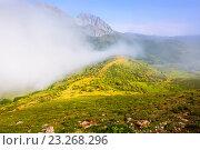 Купить «Misty mountain landscape of Leon», фото № 23268296, снято 18 октября 2018 г. (c) Яков Филимонов / Фотобанк Лори
