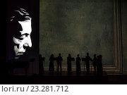 Купить «Ансамбль скрипачей Большого театра выступает на концерте-спектакле «Продлите мгновенье, маэстро!», посвященный 85-летию со дня рождения М.Л. Таривердиева в Большом театре, Россия», фото № 23281712, снято 19 июля 2016 г. (c) Николай Винокуров / Фотобанк Лори