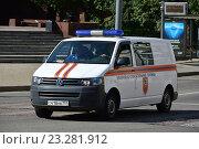 Купить «Специальный автомобиль аварийно-спасательной службы на Пречистенке в Москве», эксклюзивное фото № 23281912, снято 17 июля 2016 г. (c) lana1501 / Фотобанк Лори