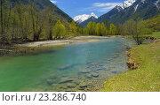 Купить «Горная река в Кавказских горах», фото № 23286740, снято 3 мая 2016 г. (c) александр жарников / Фотобанк Лори