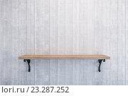 Купить «Пустая полка на стене», иллюстрация № 23287252 (c) Дмитрий Кутлаев / Фотобанк Лори