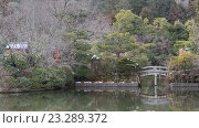 Купить «Зимний парк в Киото, Япония», фото № 23289372, снято 1 февраля 2015 г. (c) Ekaterina Andreeva / Фотобанк Лори